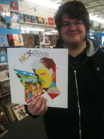 Joey at Mystery Train Records