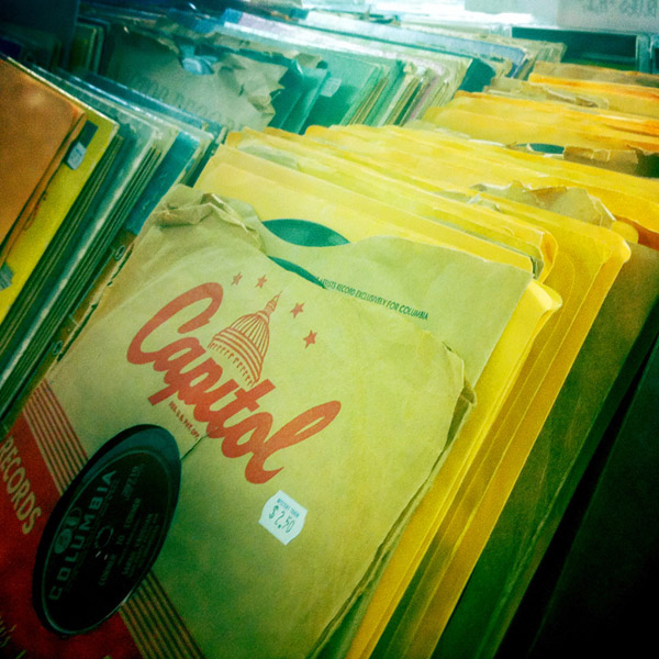 Mystery Train Records 78s Rack