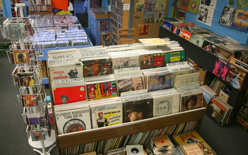 Mystery Train Records Album Rack